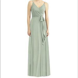 Dessy Willow 1511 bridesmaid dress sage green